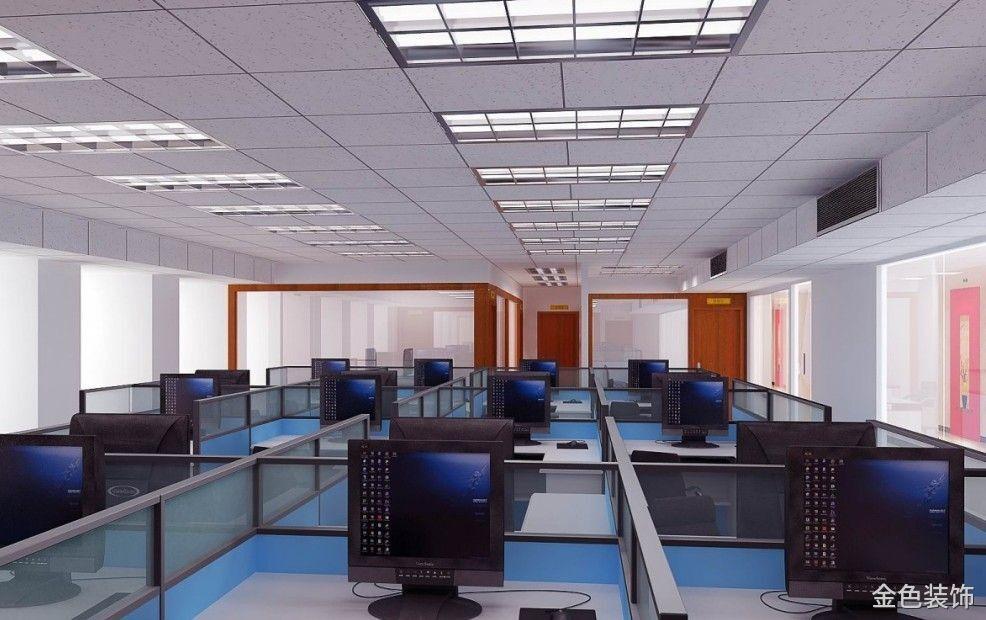 简约型办公室装修效果图
