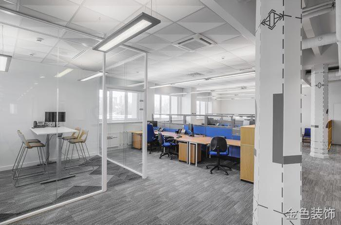 包裝公司辦公室辦公空間裝修設計案例效果圖