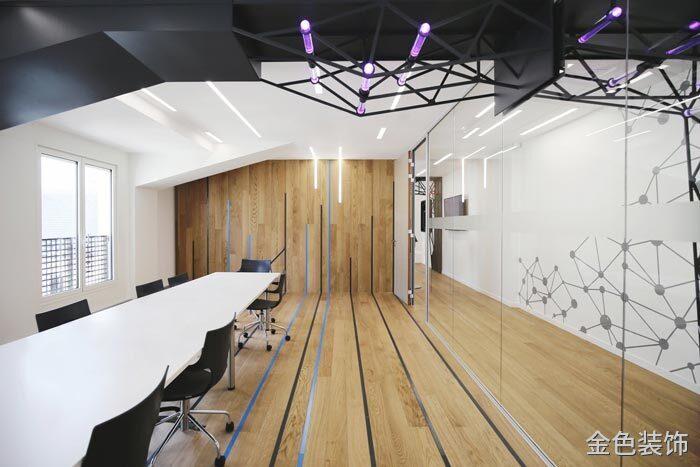 互聯網公司辦公室會議室裝修設計案例效果圖