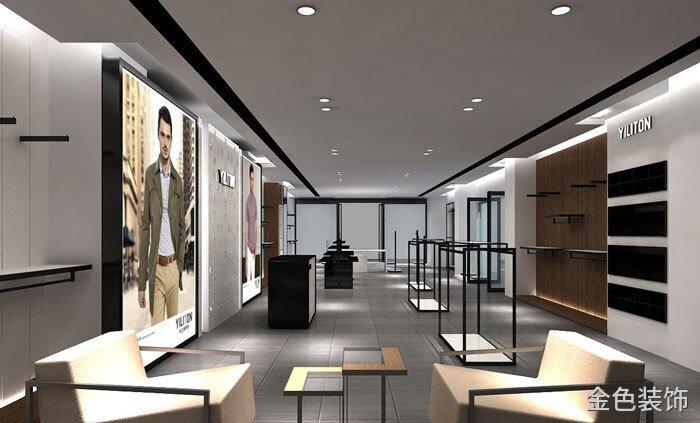 200平方男裝專賣店接待區裝修設計案例效果圖