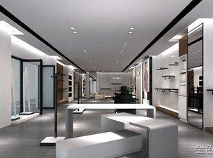 200平方男裝專賣店裝修設計