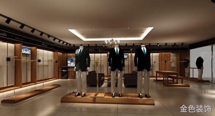 男西裝專賣店休息區域裝修設計案例效果圖