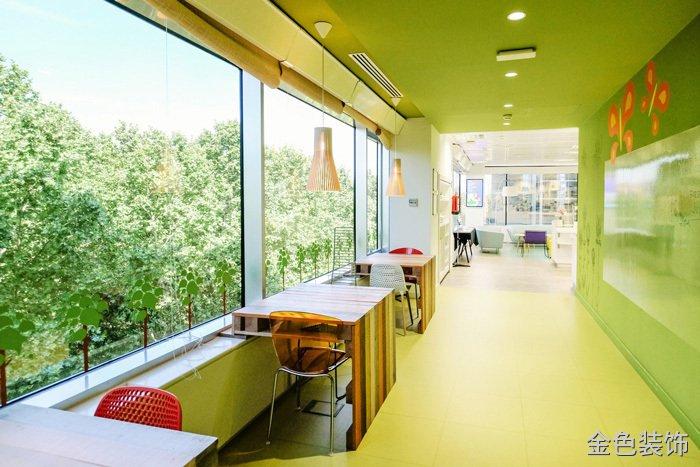 食品公司辦公室走廊裝修設計效果圖