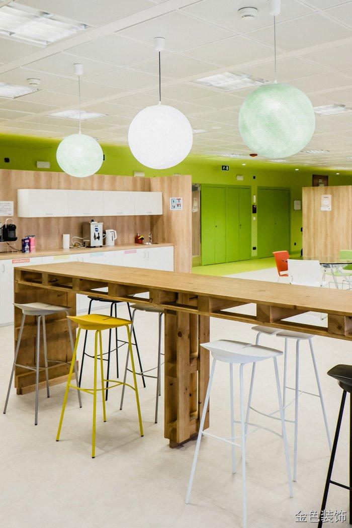 食品公司辦公室茶水間吧臺裝修設計效果圖